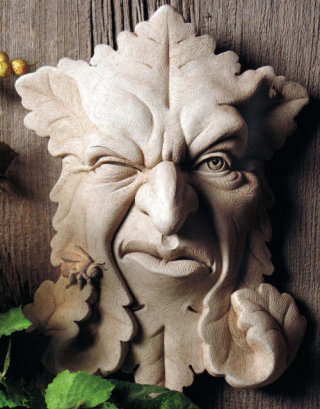 Buzz Off Green Man Wall Plaque
