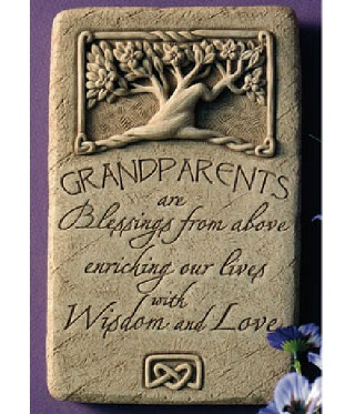 Grandparents Plaque Sculpture