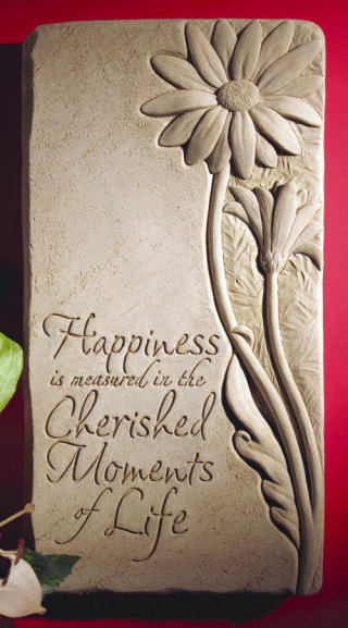 Cherish The Moments Wall Plaque Sculpture