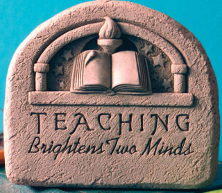 Teachers Stone Wall Sculpture
