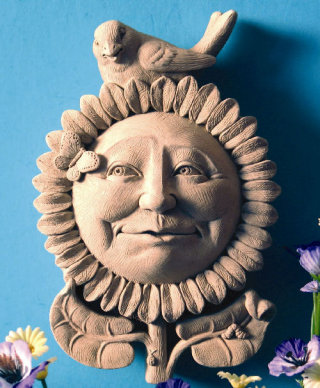 Sunflower Morning Wall Plaque Sculpture