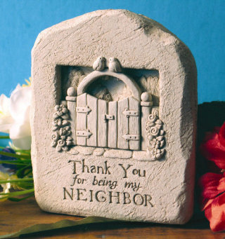 Thank You Neighbor Wall Plaque Sculpture