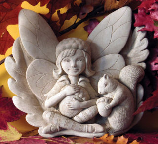 Finders Keepers Fairy Wall Plaque Sculpture