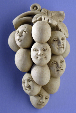 Sour Grapes Wall Plaque Sculpture