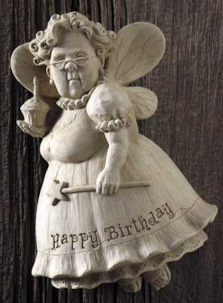 Happy Birthday Fairy Wall Plaque Sculpture