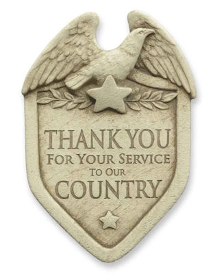 Thank You Veterans Wall Plaque Sculpture