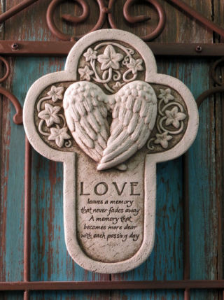 Love Leaves A Memory Wall Plaque Statue
