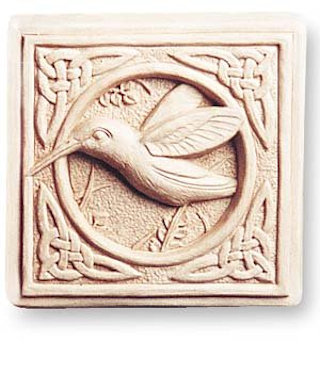 Celtic Hummingbird Plaque Sculpture