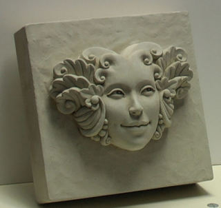 Flora Block Keystone Wall Decoration Sculpture