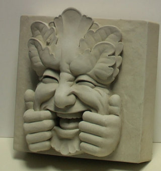 Too Much Fun Block Keystone Sculpture