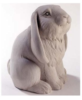 Frenchy Bunny Sculpture By Carruth