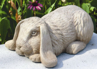 Bashful Bunny Garden Statue by Sculptor Carruth
