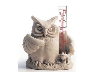Whoo's Wet Owl Rain Gauge Sculpture