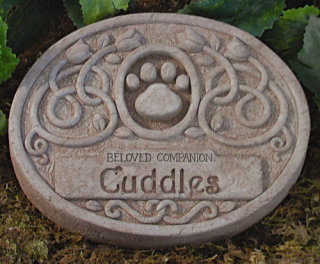 Floral Pet Memorial Engraved