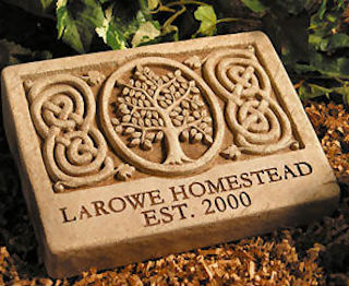 Celtic Tree Engraved Plaque Or Stone