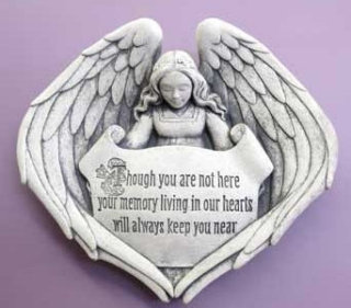 Forever In Our Hearts Angel Wall Plaque Sculpture