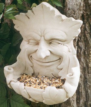 Garden Smile Birdfeeder Wall Sculpture