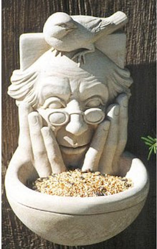 Birdwatcher Man Sculptural Birdfeeder