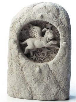 Star Chaser Dog Stone Figurine