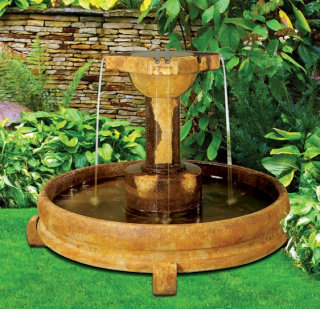Overflowing Cross Garden Fountain