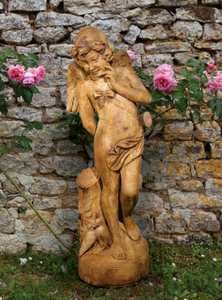 Cupid Sculpture Cast Stone 44