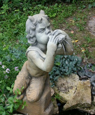 Pan Cement Garden Water Feature Statue