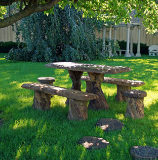 Woodland Table Benches Stools Set