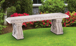 Grape Leaf Straight Garden Bench