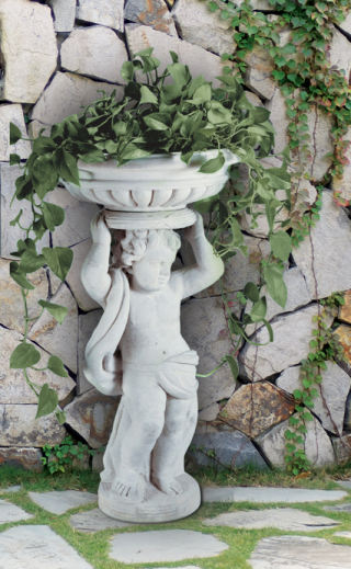Cherub Planter Two Piece Sculptural Set