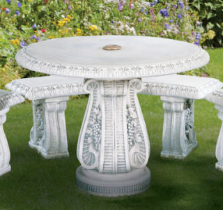 Grape Leaf Garden Cement Table