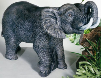Elephant Sculpture Piped High Tone