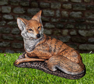 Fox Life Size Garden Sculpture