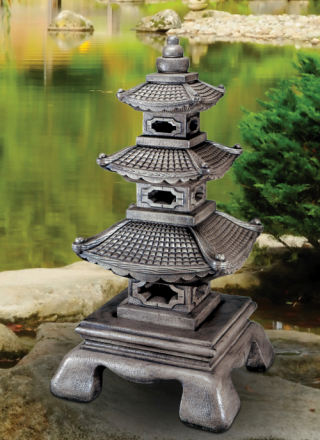 Pagoda Sculpture Large Cast Stone 59