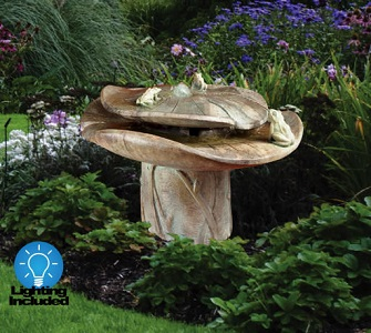 Frog Buddies Garden Fountain with Light