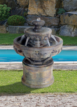 Regal Tier Cast Stone Fountain