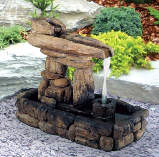 Inukshuk Guide Cement Fountain