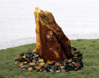 Bubbling Rock Fountain Illusion Garden Decor