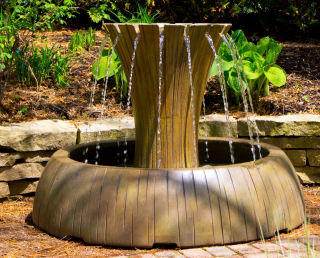 Radiance Garden Fountain Cast Stone