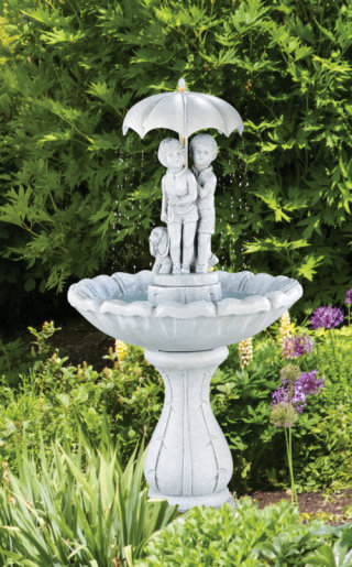 Summer Showers Umbrella Garden Fountain