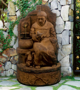 Saint Francis At The Well Garden Fountain