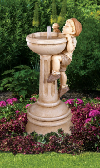 Jack's Dilemma Garden Fountain Cast Stone