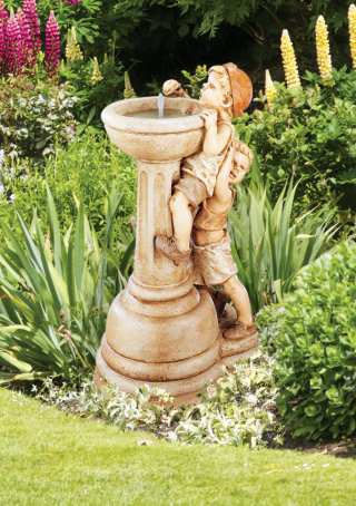 Jack and Jill Cement Fountain