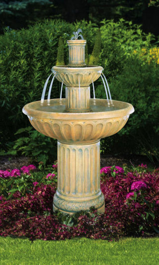 Grecian Column Fluted Fountain