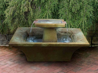Art Deco Cement Fountain Rectangular