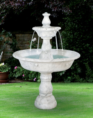 Tazza Tiered High-End Cast Stone Garden Fountain
