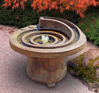 Hurricane's Eye Patio Garden Fountain