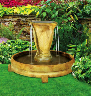 Overflowing Vase Fountain Garden Statuary