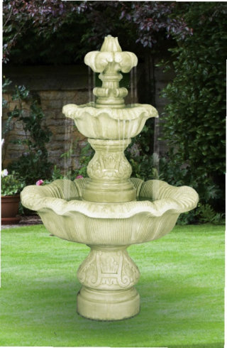 Two Tier Renaissance Cement Fountain