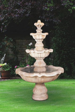 Three Tier Renaissance Garden Fountain