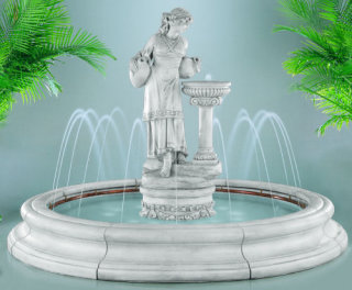 Angella In Toscana Pool Fountain With Spray Ring